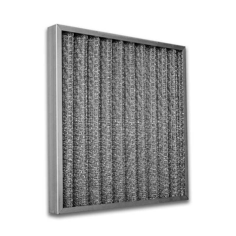 Filtro cella ondulata sintetica doppia rete acciaio spessore 48 mm 400x400